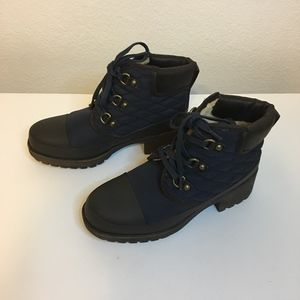 """Lucky Brand Lace Up Ankle boots 2"""" rubber heel NWT"""